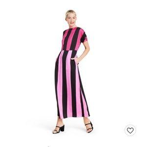 Christopher John Rogers Mixed Stripe Dress